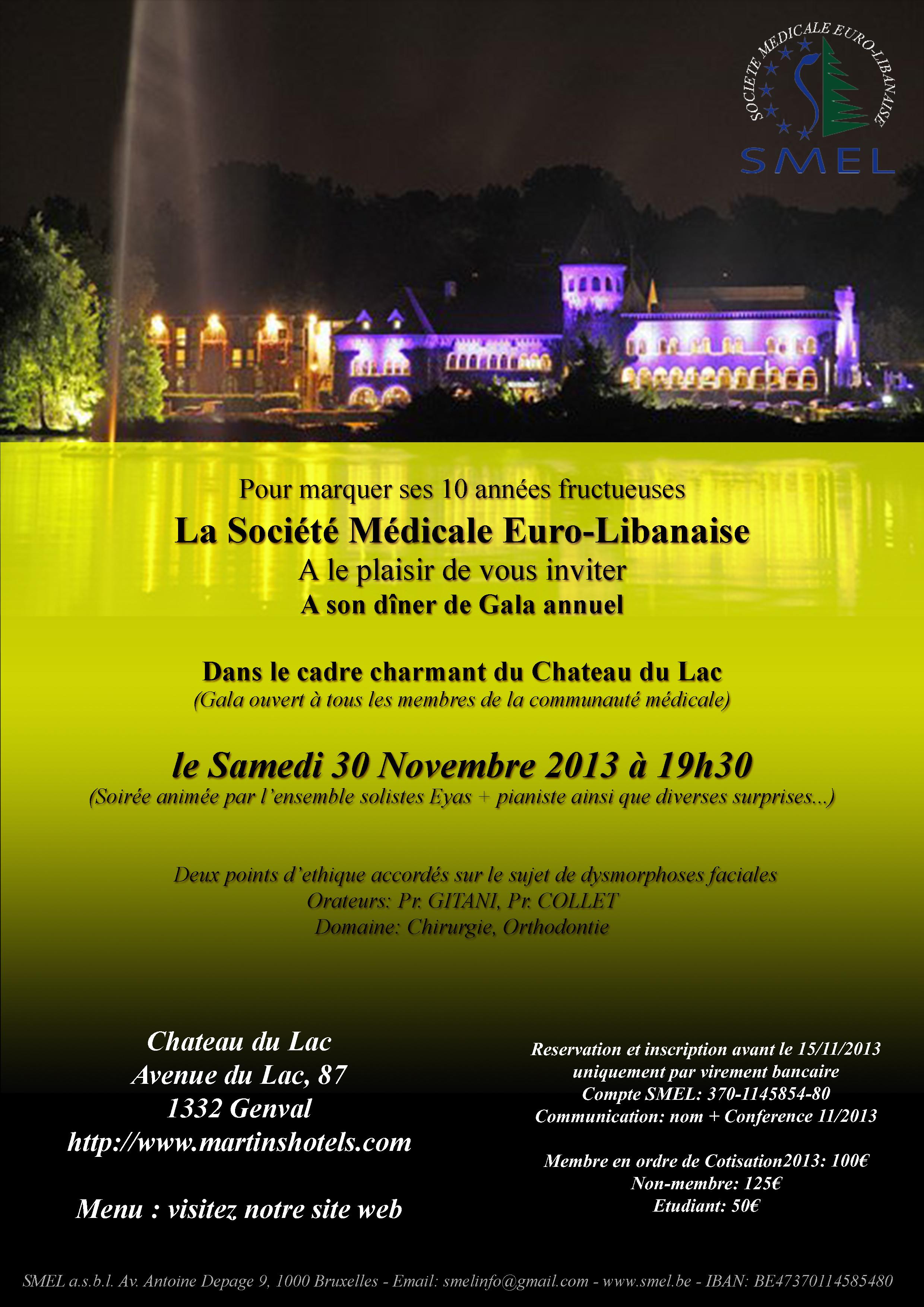 Affiche Gala SMEL 2013 - Avec programme