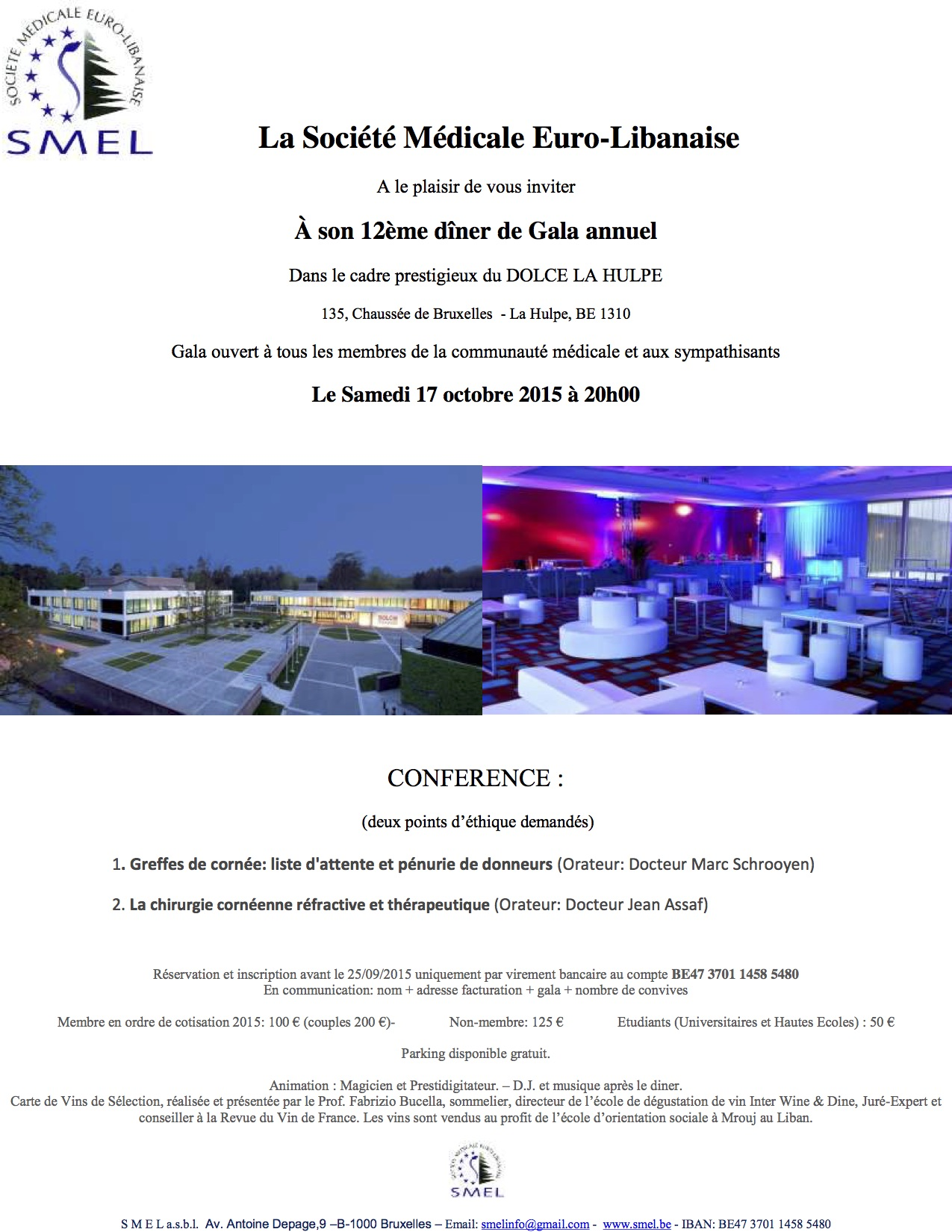 Invitation GALA SMEL 2015